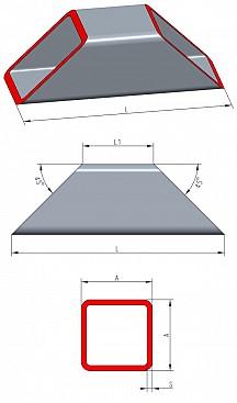 quadratrohre aus stahl bleche online und bleche nach ma. Black Bedroom Furniture Sets. Home Design Ideas